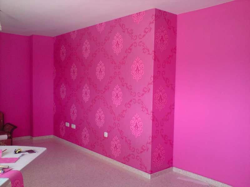 Pintamos tu hogar angel magra al decoraci n for Papel pintado fucsia